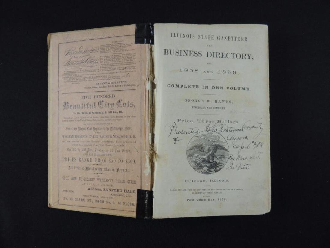 1859 Illinois Stat Gazetteer and Business Directory - 2