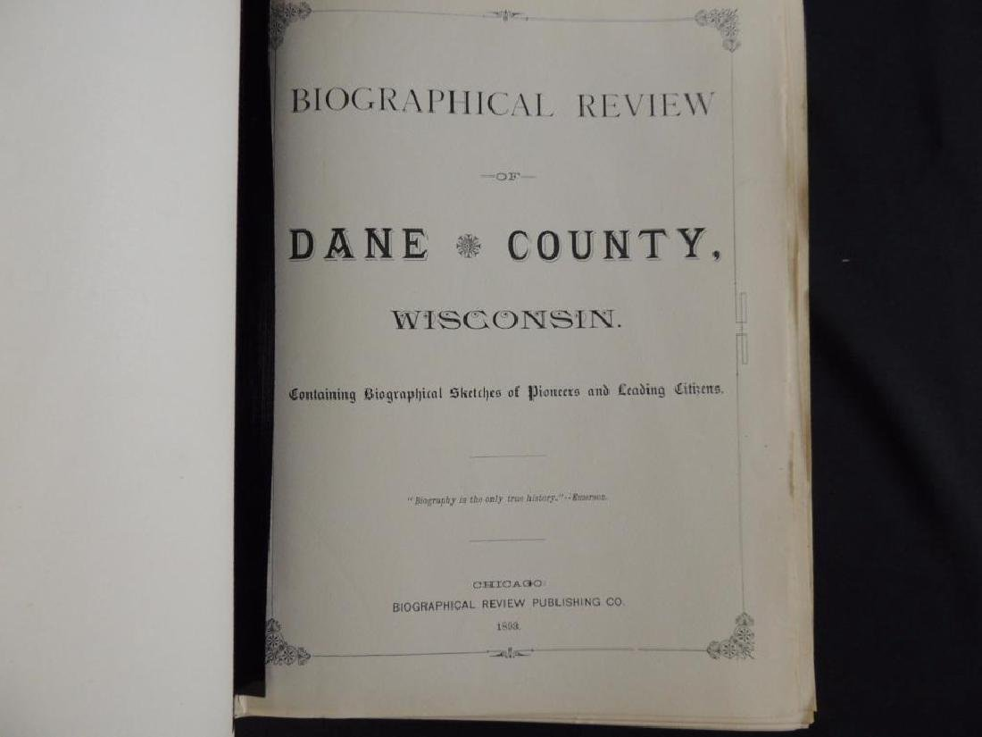 1893 Biographical Review of Dane County Wisconsin - 2