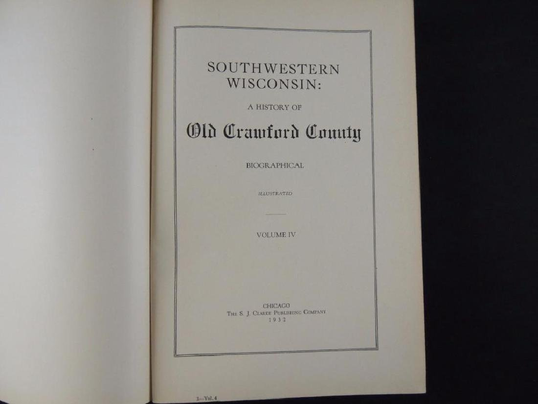 1932 Southwestern Wisconsin A History of Old Crawford - 2