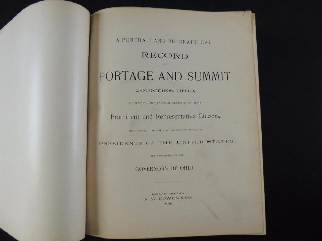 1898 Record of Portage and Summit Counties Ohio - 2