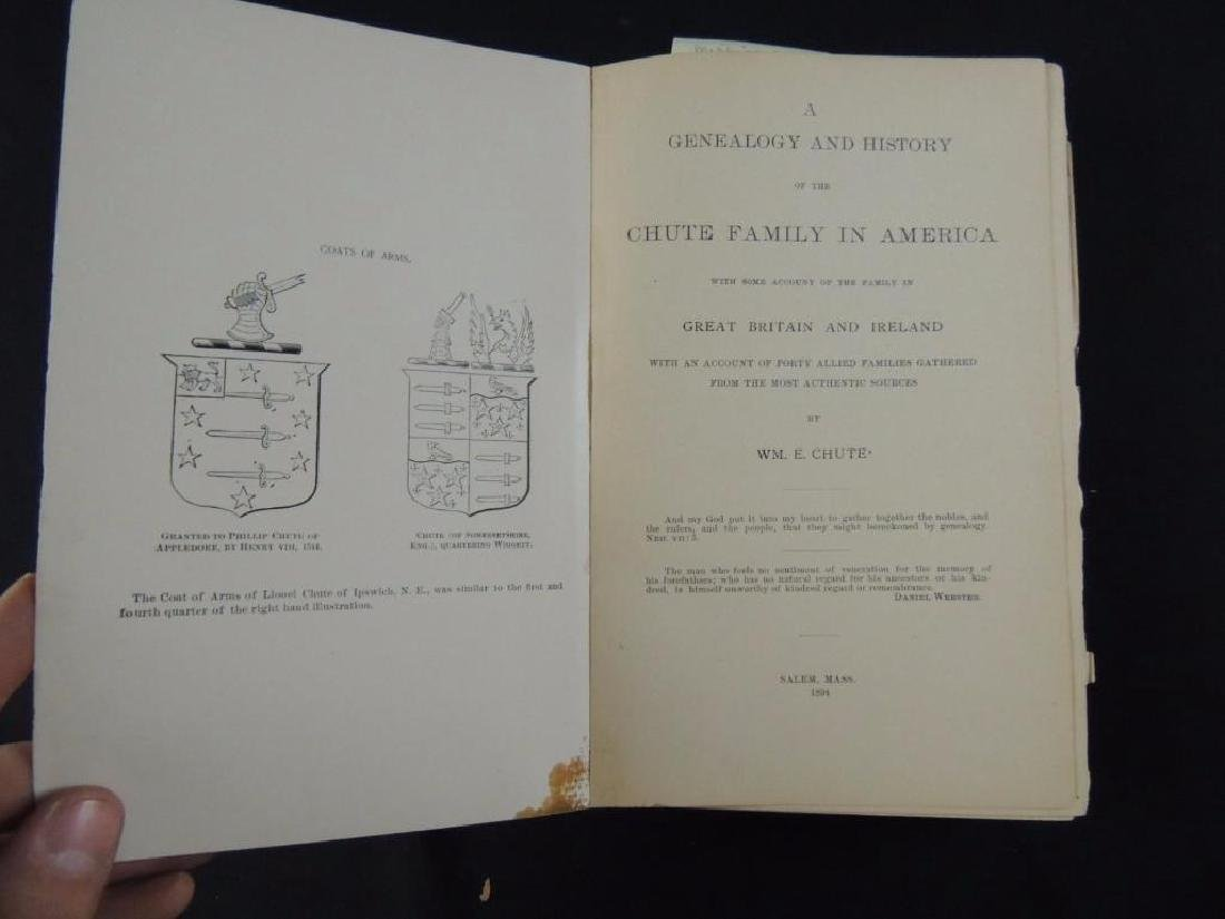 1894 Genealogy and History of the Chute Family in - 2