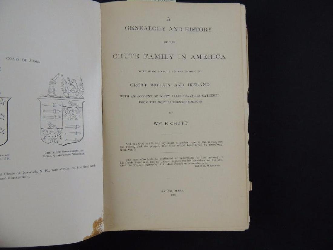 1894 Genealogy and History of the Chute Family in - 3