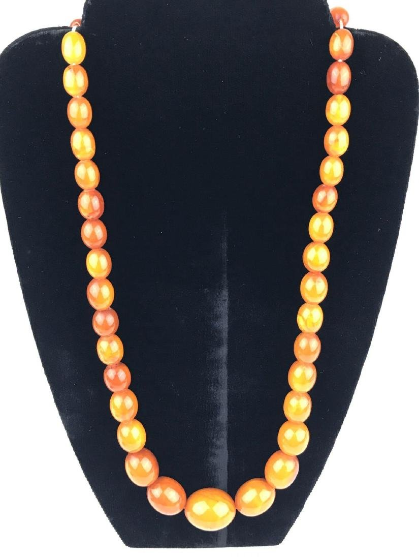 Genuine Butterscotch Baltic Amber Bead Necklace
