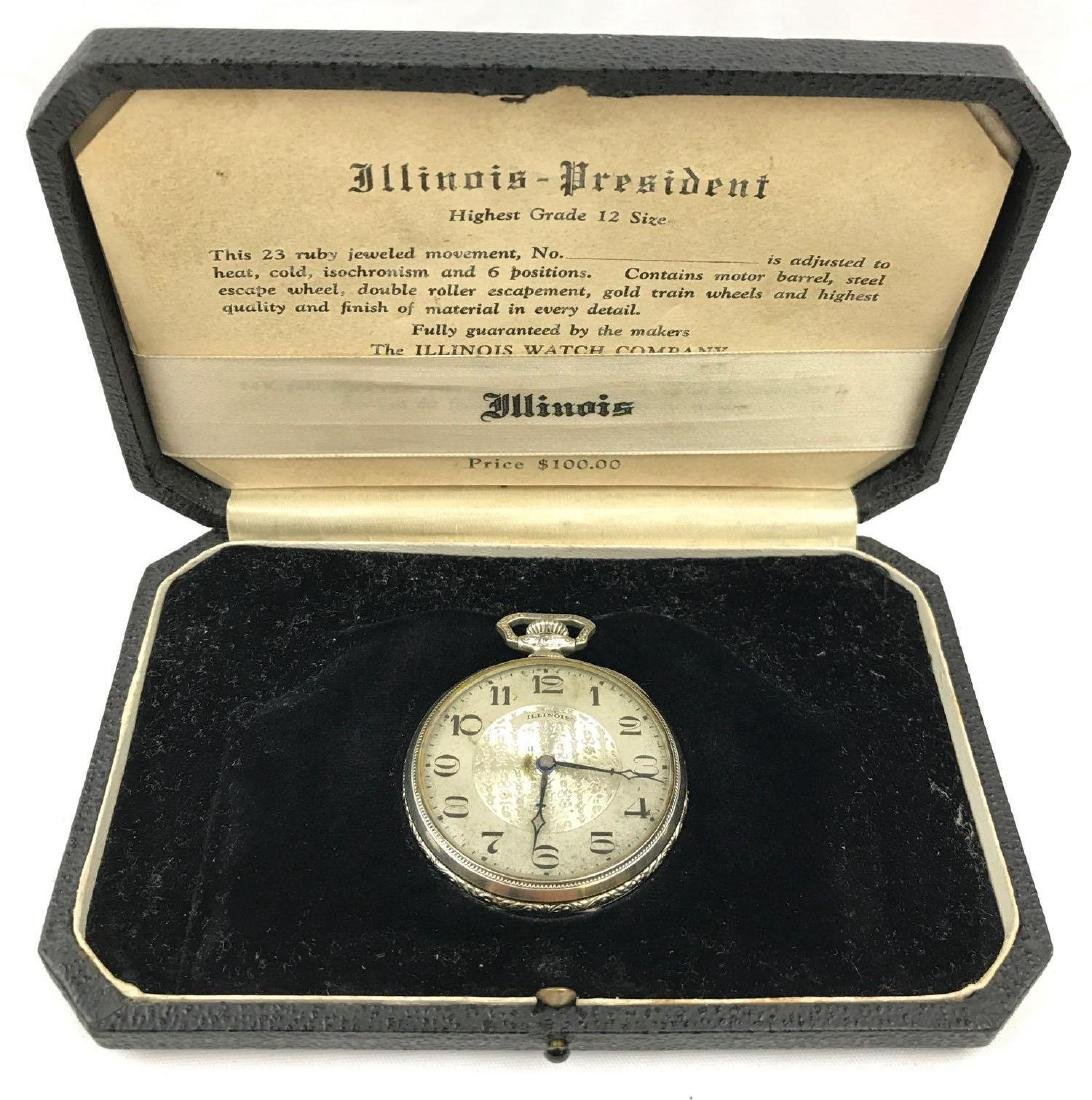 Illinois Pocketwatch - with fitted original case