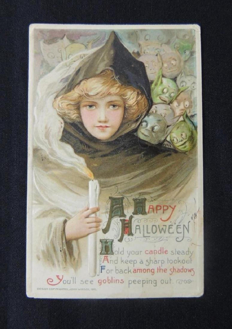 Antique Halloween Embossed Postcard John Winsch