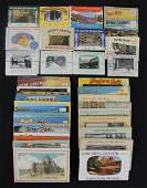 Large Group of Travel Souvenir Postcard Photo Books and