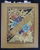 Large Antique Scrap Book Album Containing Trade Cards
