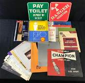 Group of Vintage Car Brochures and Manuals
