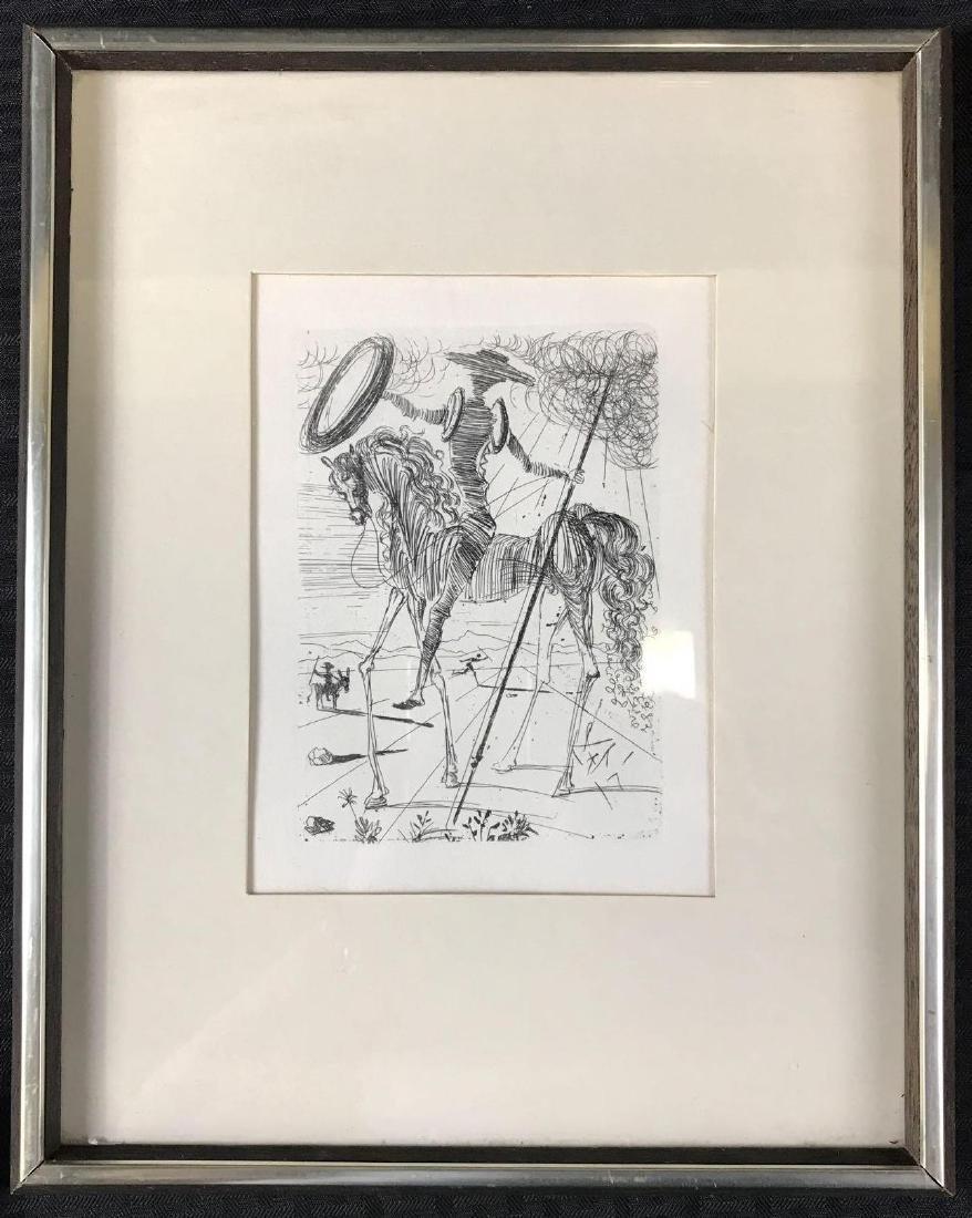 Don Quixote Salvador Dali Original Etching