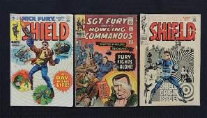 Marvel Comics Group of 3 Nick Fury Comic Books