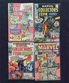 Marvel Collectors Item Classics Comic Books Group of 4