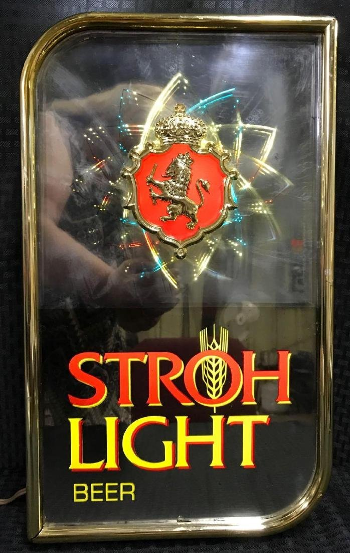 Stroh Light Beer Sign with Motion Lights