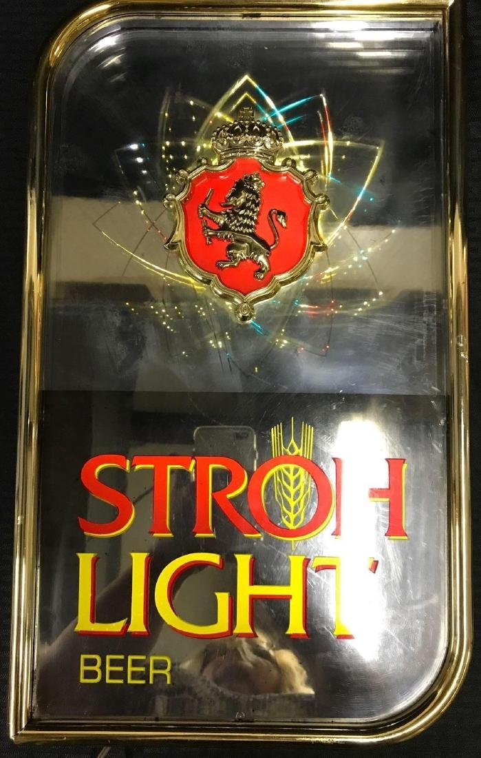 Stroh Light Beer Sign with Motion Lights - 4