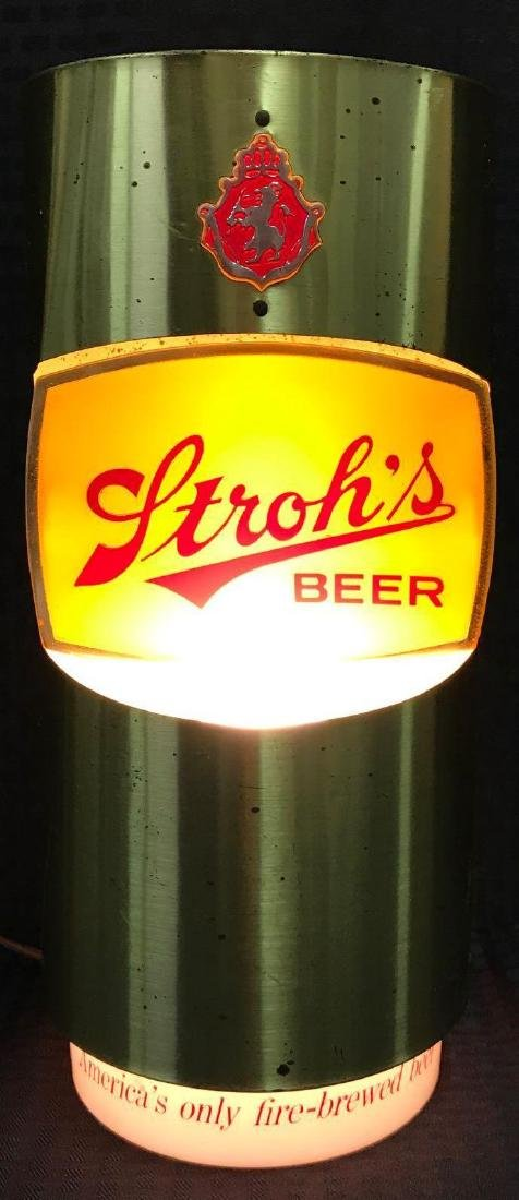 Stroh's Beer Can Light