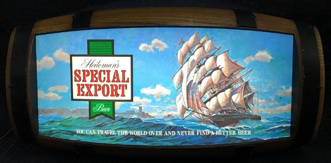 Heilemans Special Export Barrel Back Beer Sign Light