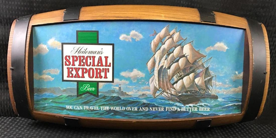 Heilemans Special Export Barrel Back Beer Sign Light - 2