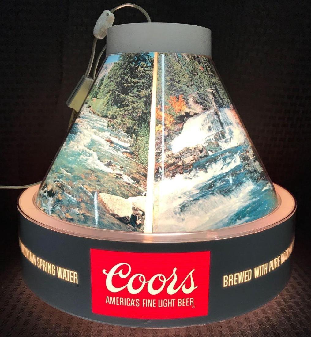 Coors Beer Hanging Billiard Bar Light