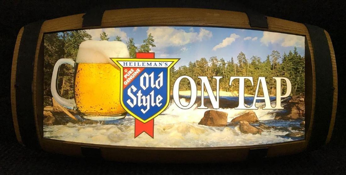 Old Style On Tap Barrel Back Beer Light