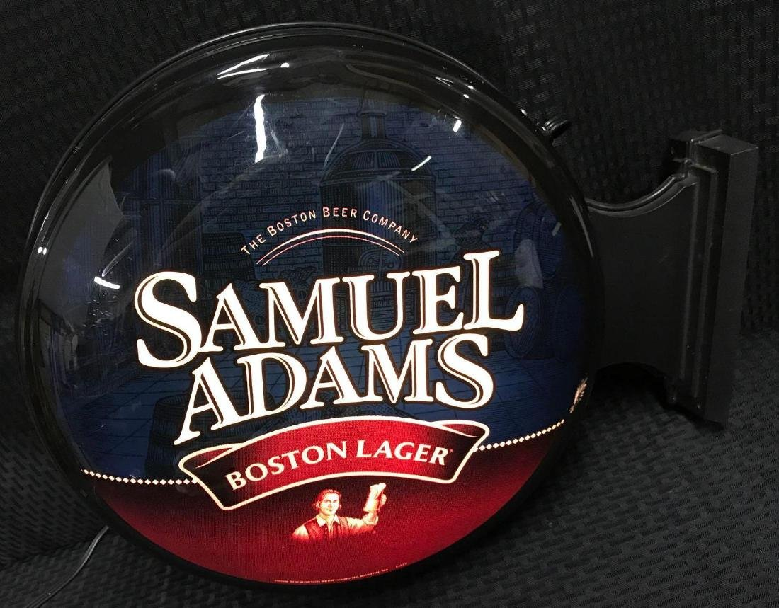 Samuel Adams 2 sided Round Beer Light Sign