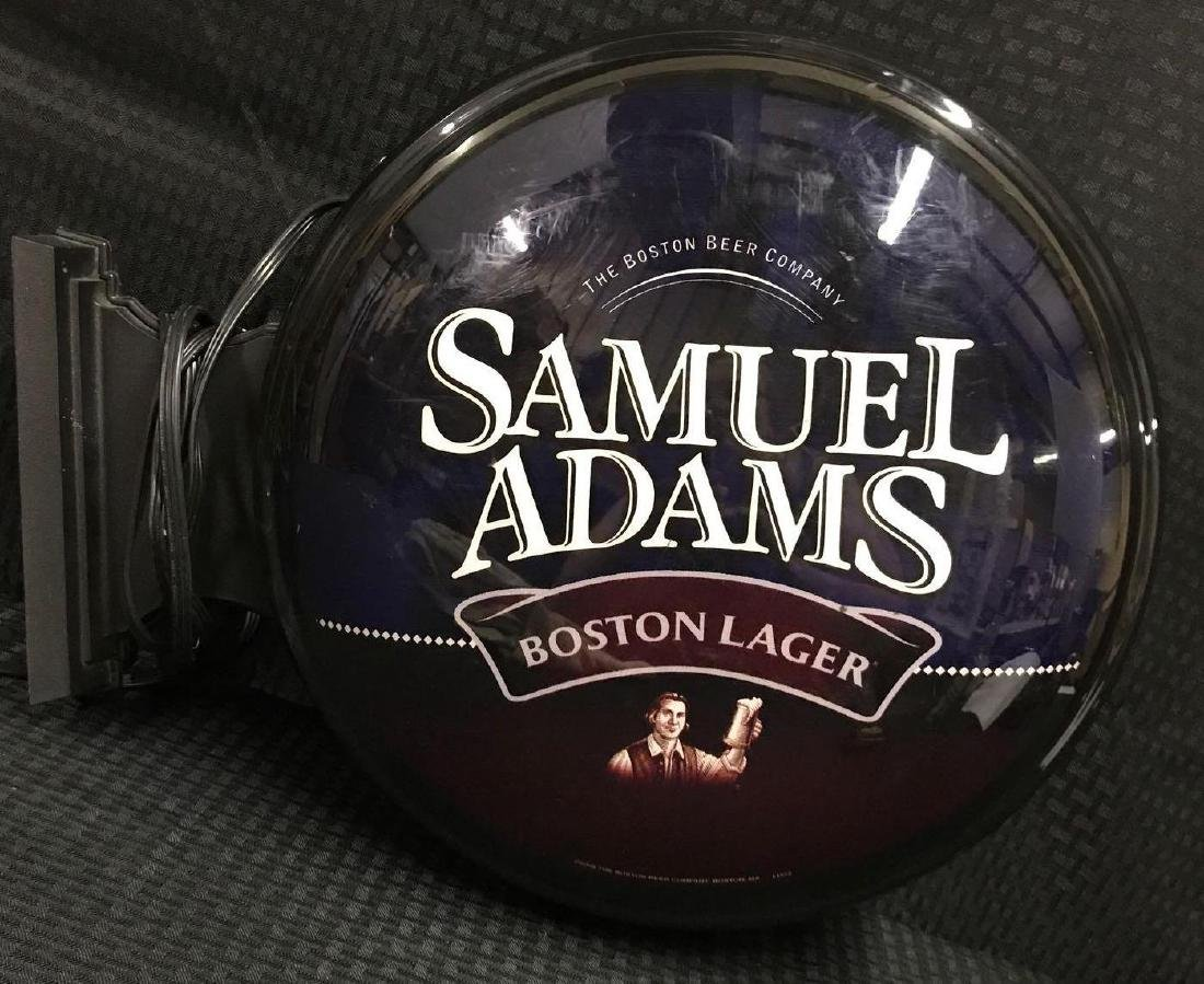 Samuel Adams 2 sided Round Beer Light Sign - 2