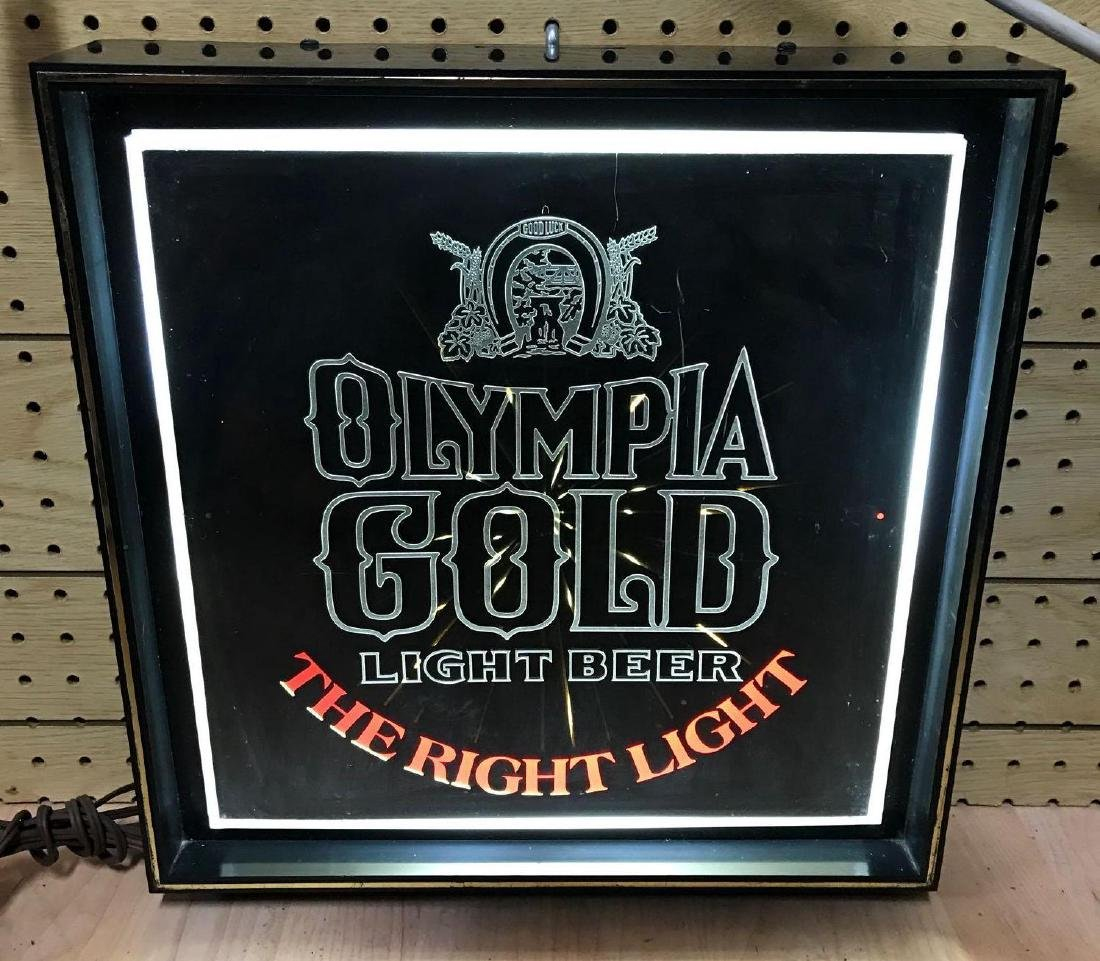 Vintage Olympia gold advertising light up beer sign