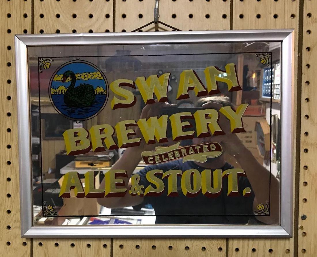 Swan brewery advertising mirror