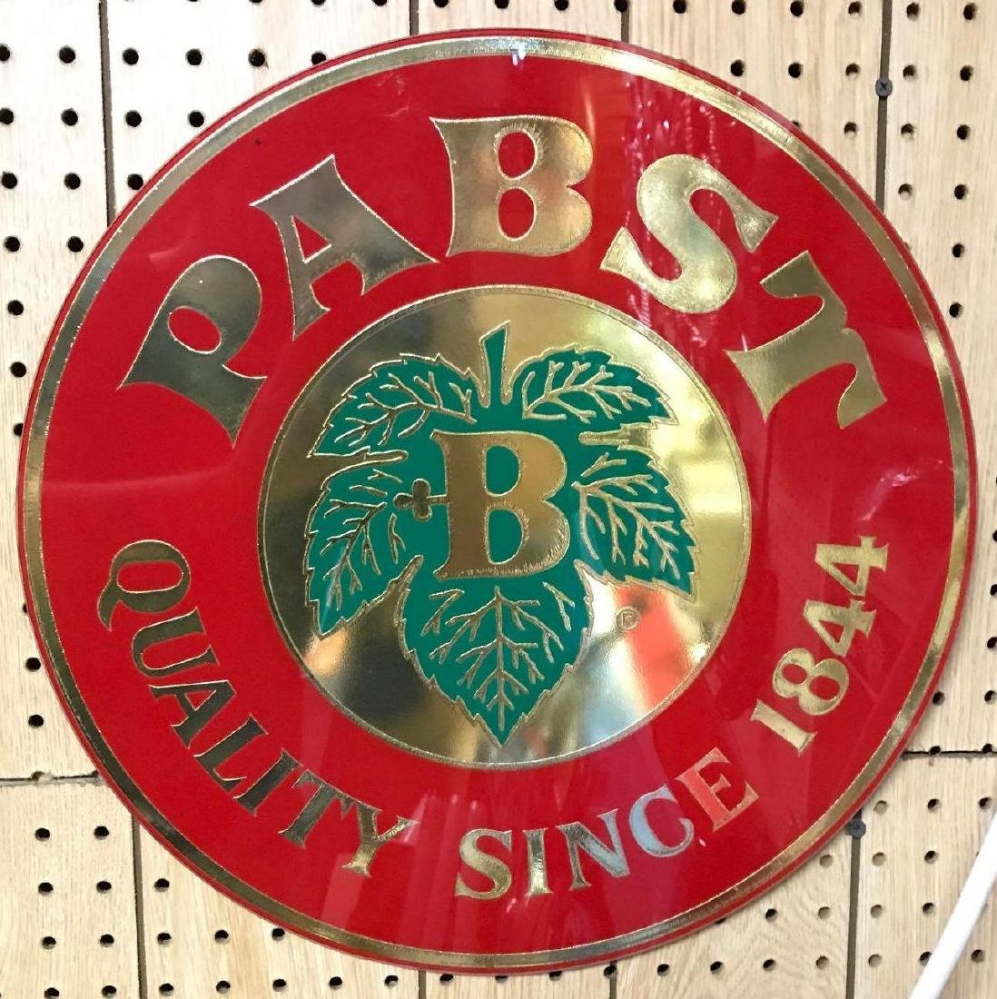 Vintage Pabst Reverse painted glass sign
