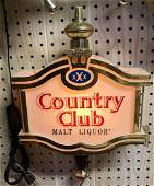 Vintage Country club light up advertising beer sign