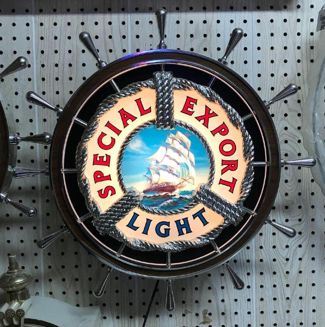 Vintage special export light light up advertising beer