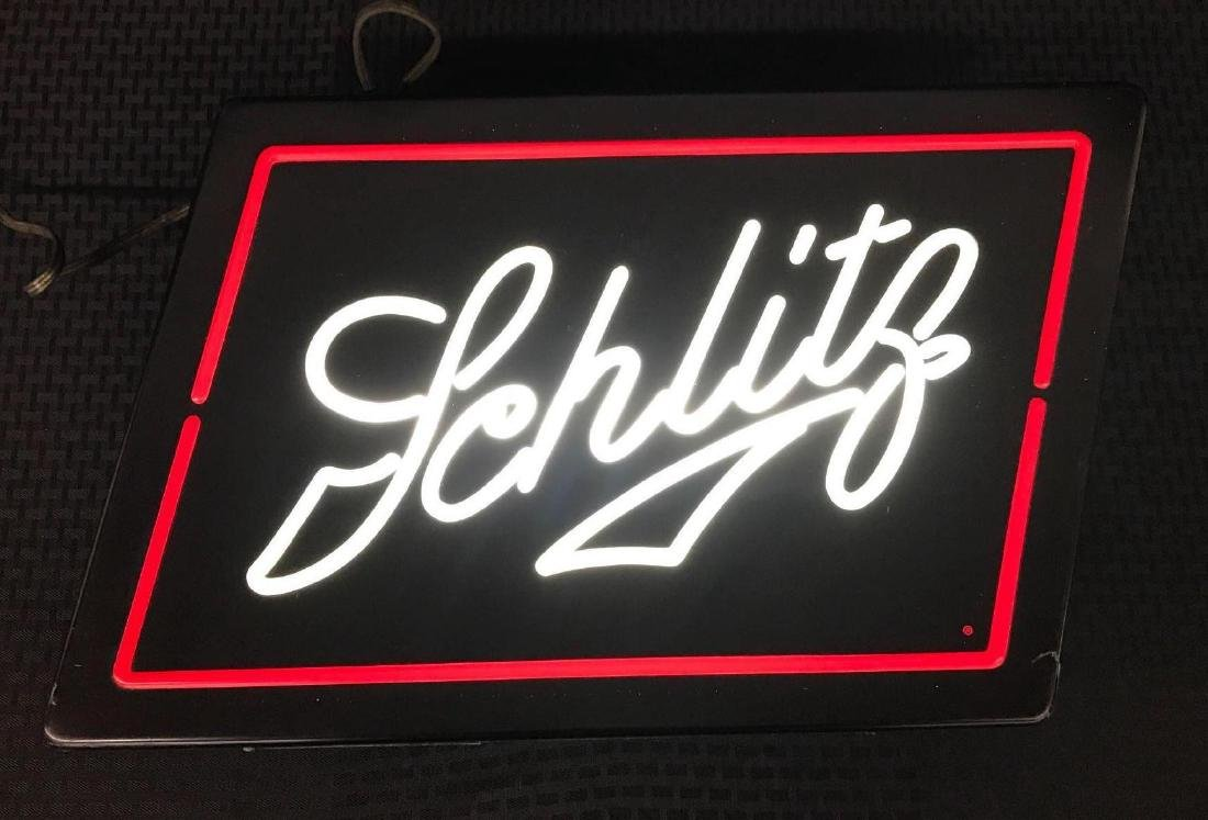 Schlitz Beer Neon Look Sign Light