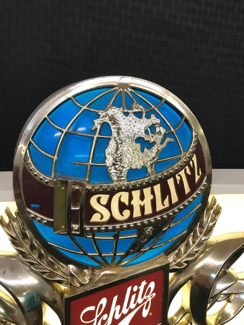 Schlitz Beer Light Sign with Globe Logo - 3