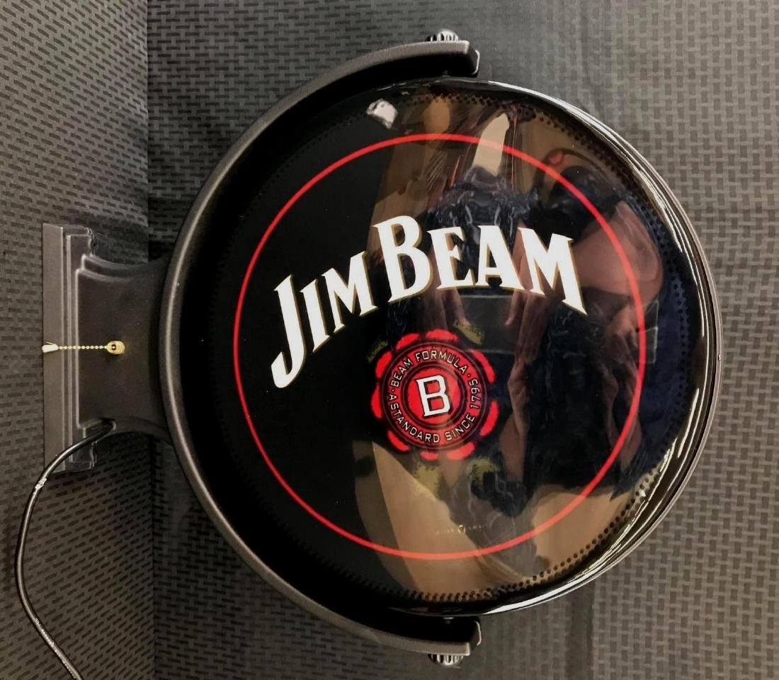 Jim Beam Rotating Pub Sign Light