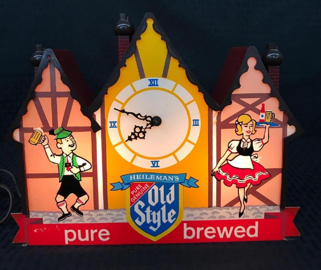 Old Style Beer Sign Clock Light - 6