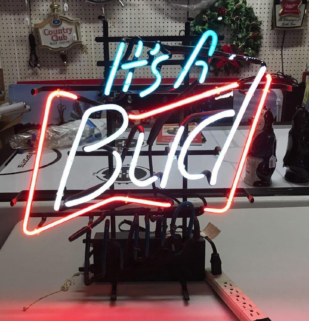Vintage it's a Bud thing advertising neon sign