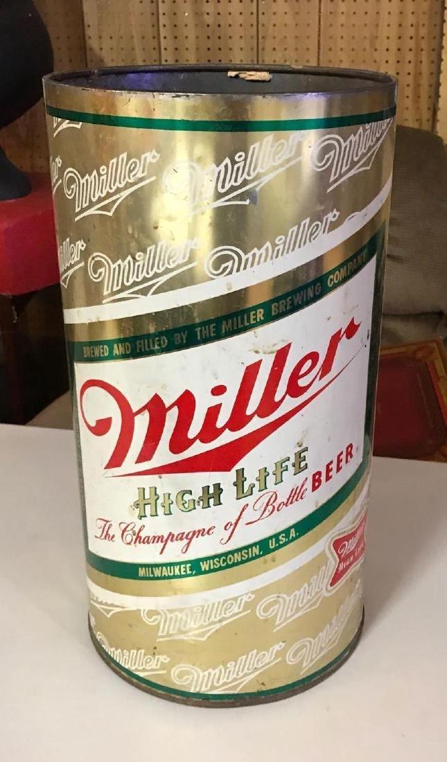Vintage miller high life trashcan