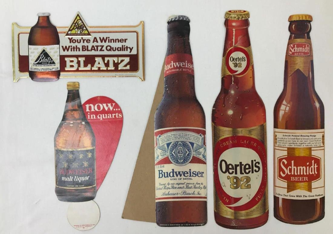 Vintage Beer Advertising Signs Featuring Budweiser and