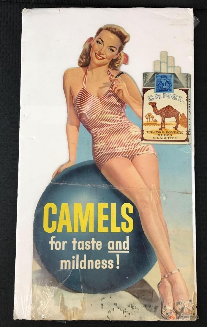 Camels Cigarette Advertising Stand Up