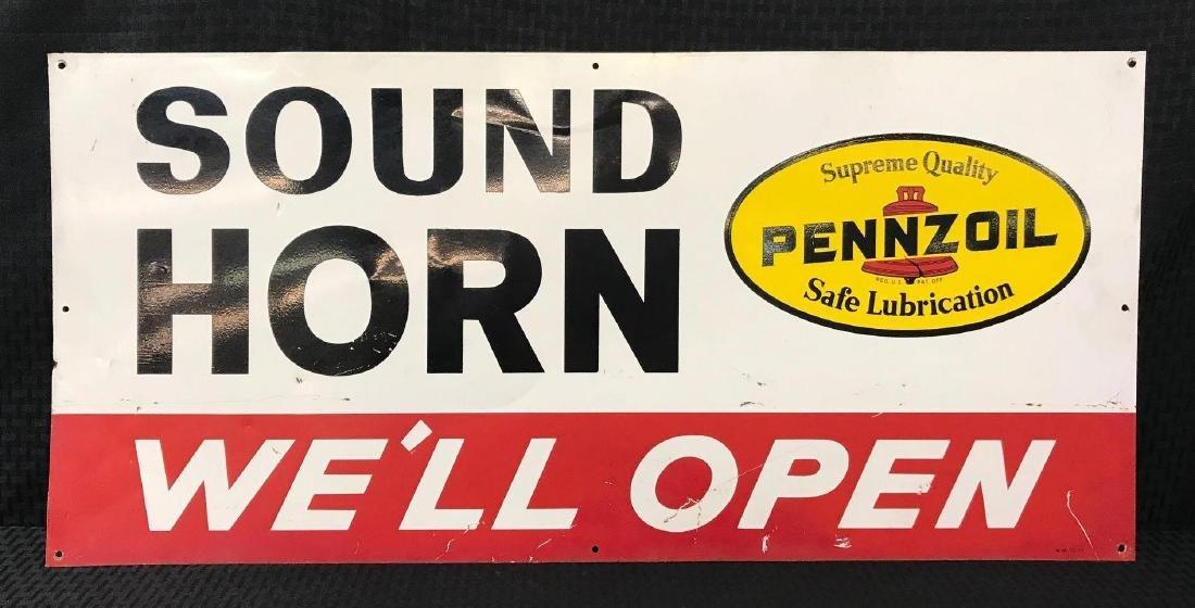 Pennzoil Sound Horn SST Sign