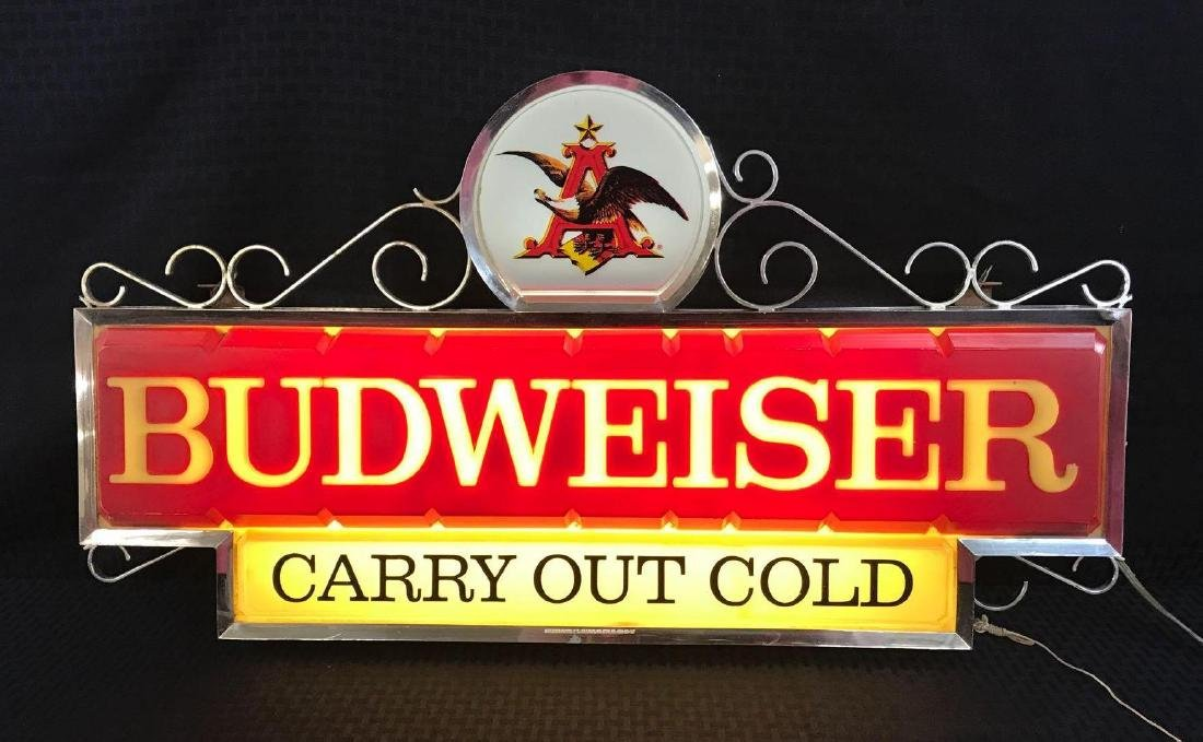 Budweiser Beer Sign Light with Eagle