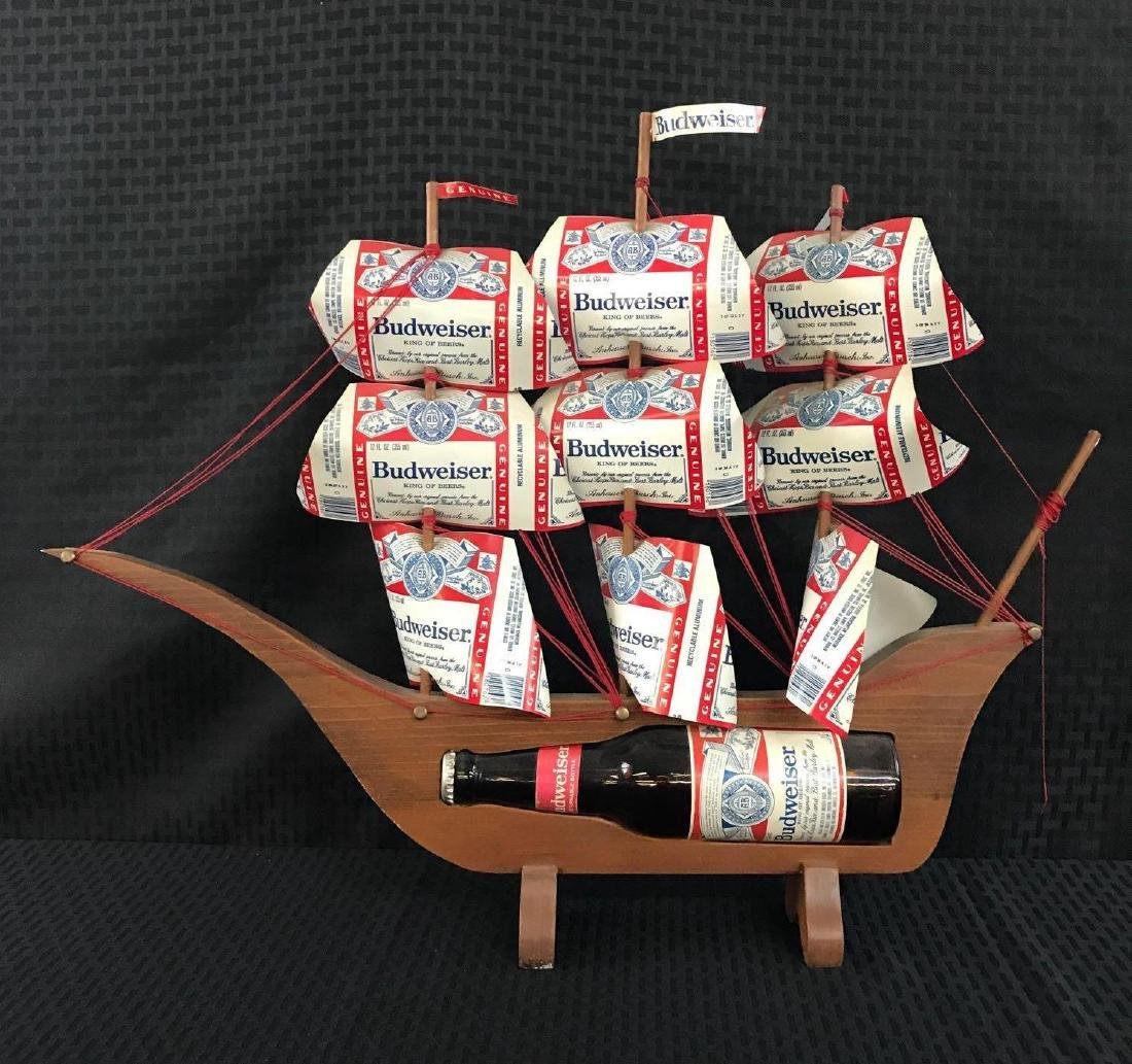 Budweiser Beer Ship Sign with Can Sails