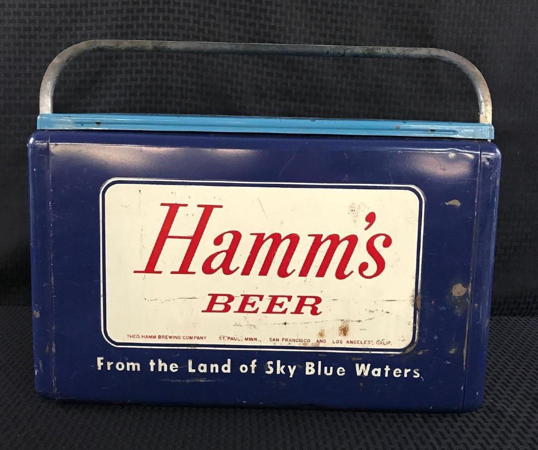 Rare Hamm's Beer Metal Cooler
