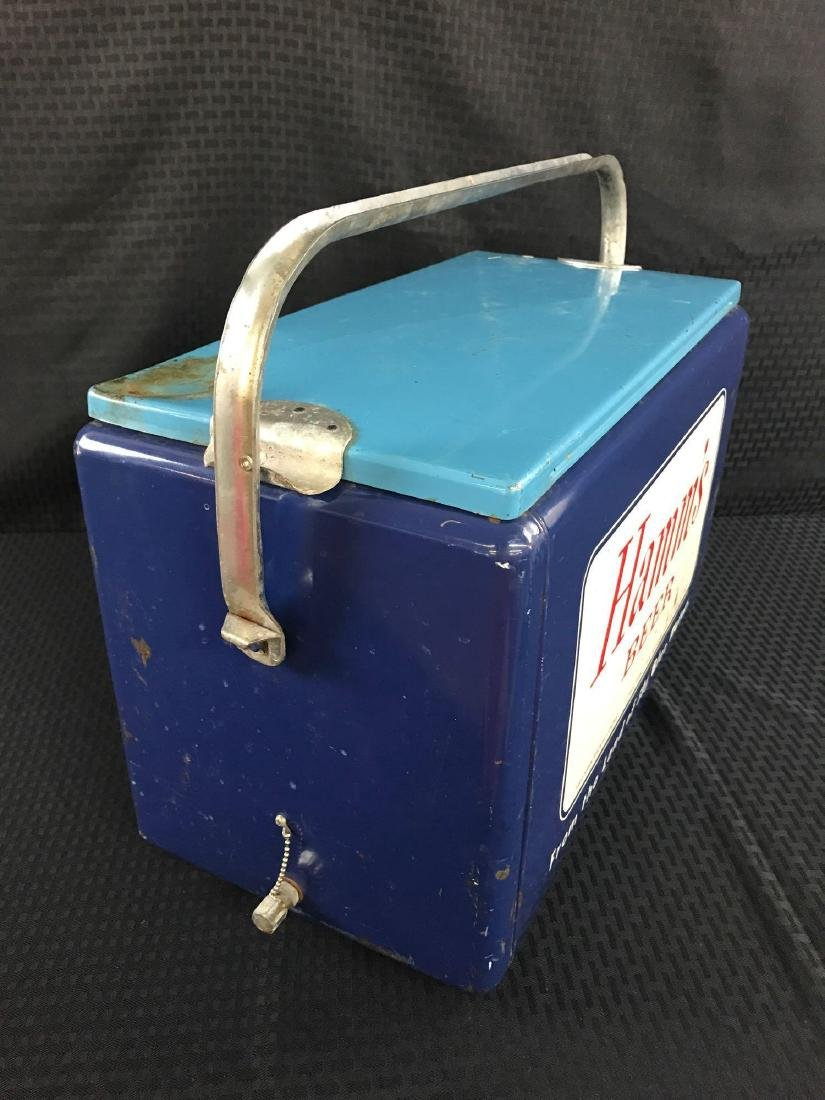 Rare Hamm's Beer Metal Cooler - 2