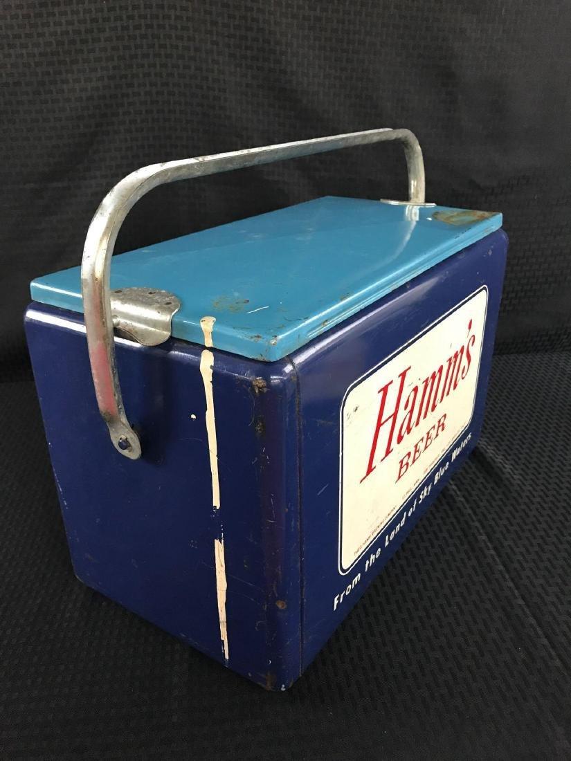 Rare Hamm's Beer Metal Cooler - 3