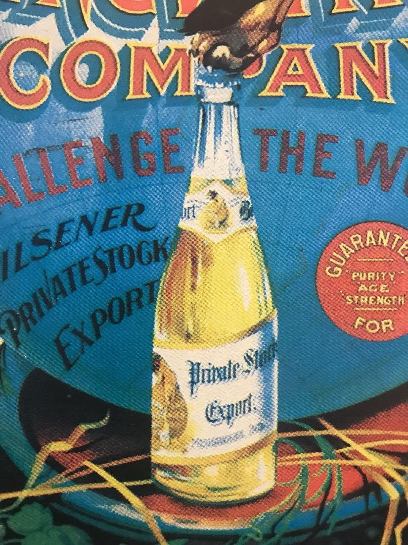 The Kamm and Schellinger brewing company beer sign. - 3