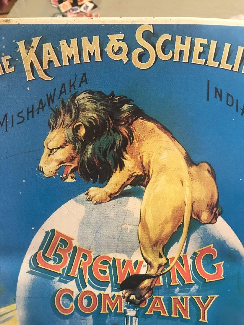 The Kamm and Schellinger brewing company beer sign. - 4