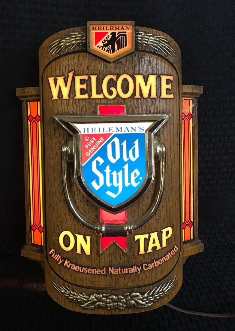 Old Style Beer Light Up Welcome Sign