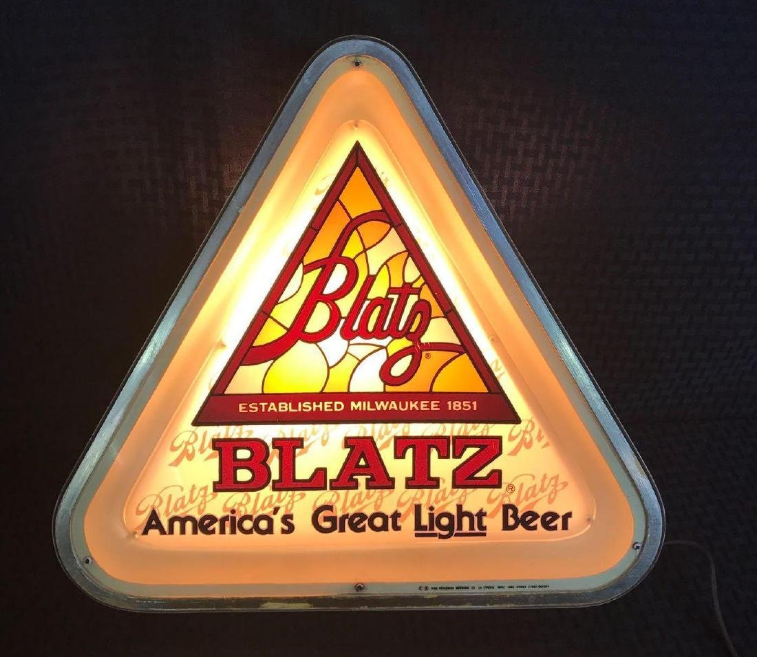 Triangle Blatz Beer Light Up Sign