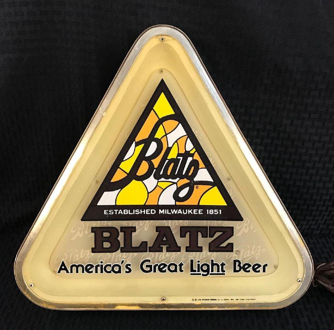 Triangle Blatz Beer Light Up Sign - 2