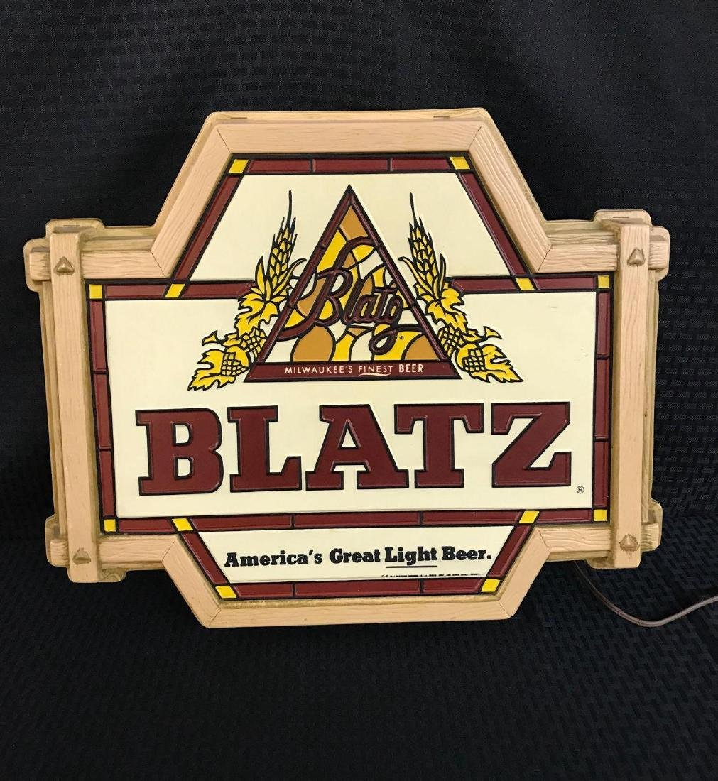 Blatz Beer Light Up Sign - 2