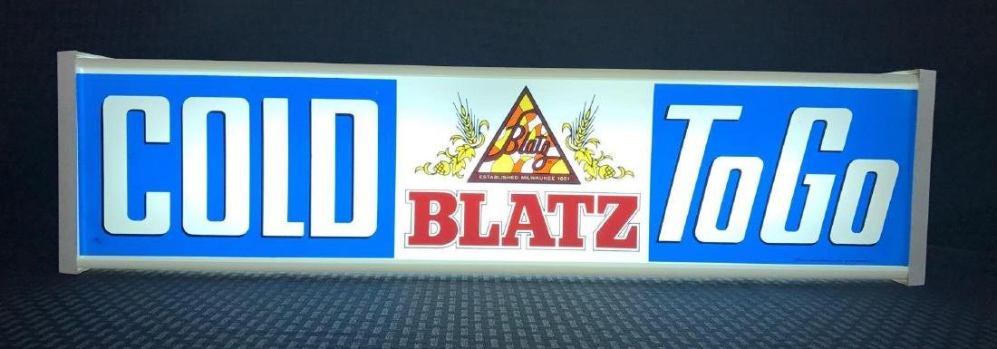 Cold Blatz Beer To Go Light Up Sign